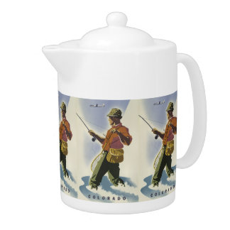 Colorado USA Vintage Travel teapot