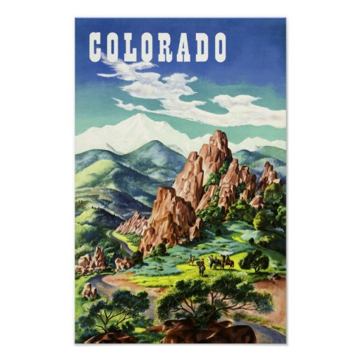 Colorado, vintage travel poster