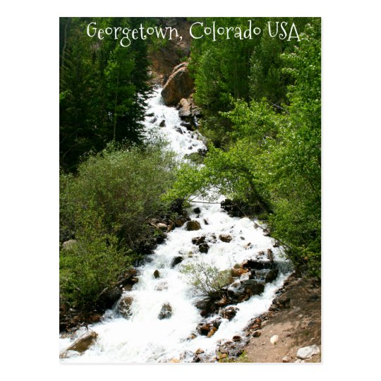Colorado waterfall postcard