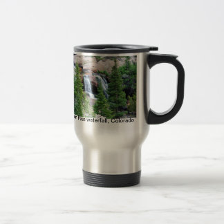 Colorado waterfall travel mug. travel mug