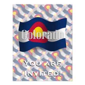 Colorado Waving Flag Personalized Invite