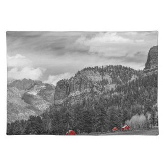 Colorado Western Landscape Red Barns Placemat
