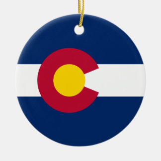Colorado's Flag Christmas Ornament