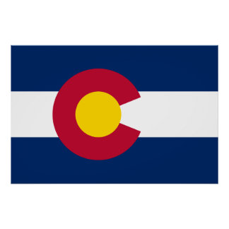 Colorado's Flag Poster