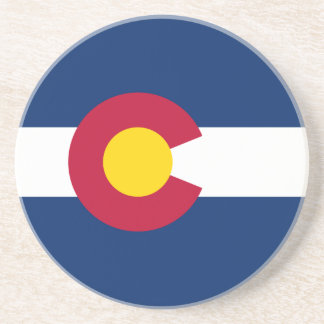 Colorado's Flag Sandstone Coaster