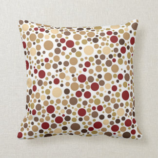 Colorblind Baroque (Brown, Beige & Tan Dots) Cushion