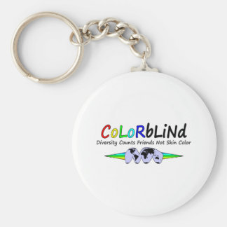 Colorblind Diversity Counts Friends Not Skin Color Keychains