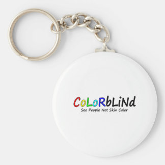 Colorblind See People Not Skin Color Key Chain