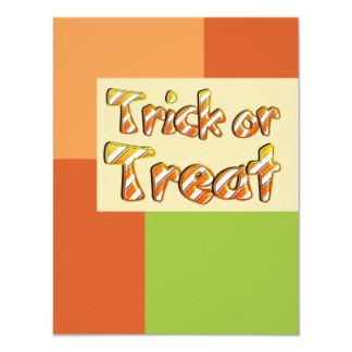 "Colorblock Halloween Invitation 4.25"" X 5.5"" Invitation Card"