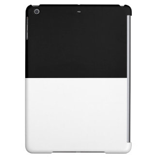 Colorblock iPad Case Black White Customizable Gift