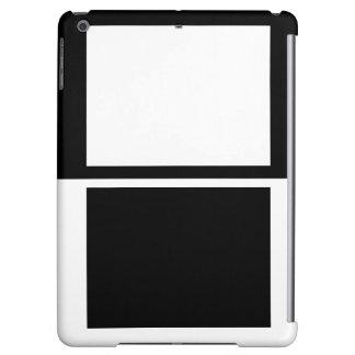 Colorblock iPad Case Black White Fashion Gifts 4