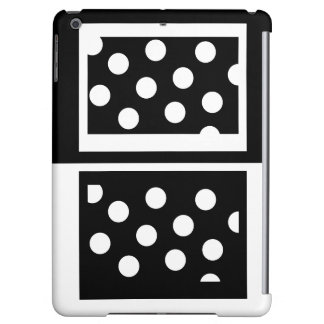 Colorblock iPad Case Black White Fashion Gifts 5