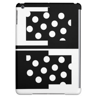 Colorblock iPad Case Black White Fashion Gifts 6
