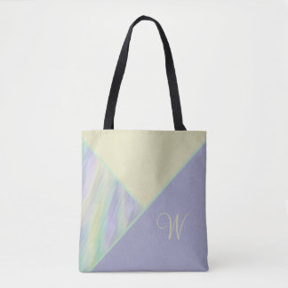 Colorblock Lilac Yellow Mint Tote Bag
