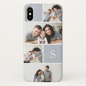 Colorblock Photo Collage & Monogram Case-Mate iPhone Case