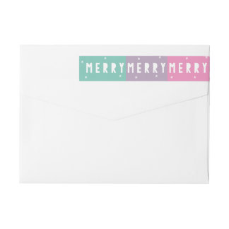 Colorblocked MERRY MERRY MERRY Address Labels