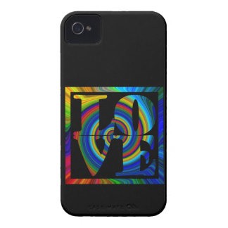 colorburst framed spiral square love iPhone 4 covers