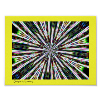 Colorburst Kalidescope Tapestry Poster