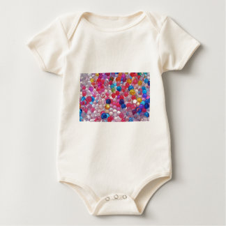 colore jelly balls texture baby bodysuit