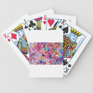colore jelly balls texture bicycle playing cards