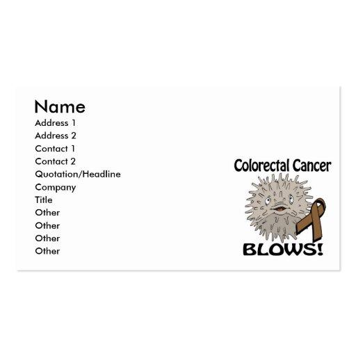 Colorectal Cancer Blows Awareness Design Business Card Template