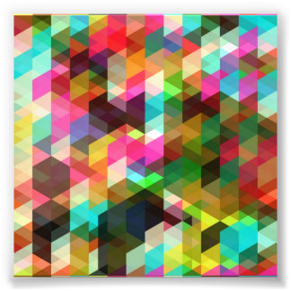 Colored-Abstract-Vector-Art COLORFUL TRIANGLES SQU Photo Print