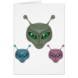 Colored Aliens Greeting Card