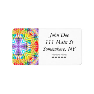 Colored Art Pencils Abstract Address Label