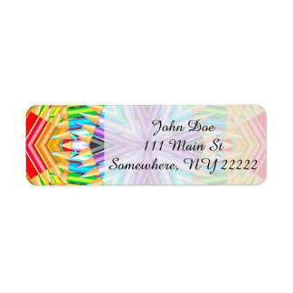 Colored Art Pencils Abstract Return Address Label