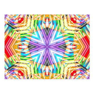 Colored Art Pencils Abstract Postcard
