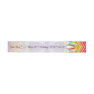 Colored Art Pencils Abstract Wraparound Address Label