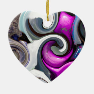 colored background texture ceramic heart decoration