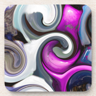 colored background texture coaster