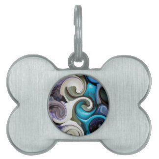 colored background texture pet tags