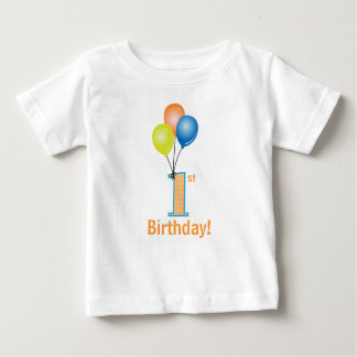 Colored Balloons Child's 1st Birthday Baby T-Shirt