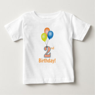 Colored Balloons Child's 2nd Birthday Baby T-Shirt