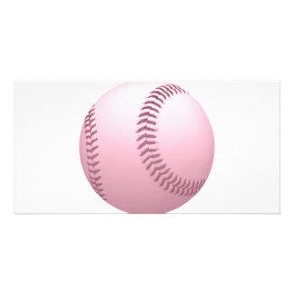 Colored Baseball Photo Greeting Card