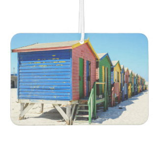 Colored Beach Huts Car Air Freshener