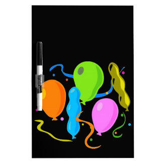 Colored Birthday Party Balloons Dry Erase Board