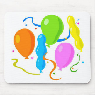 Colored Birthday Party Balloons Mouse Pad