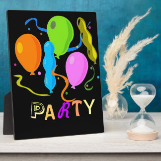Colored Birthday Party Balloons Plaque