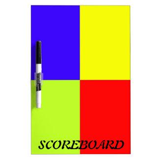 Colored Block Art Dry Erase Board
