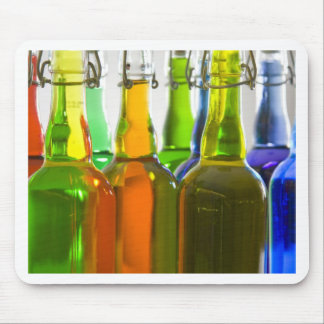 Colored Bottles Mouse Pad