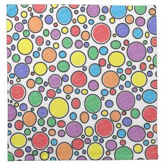 Colored Bubbles Cloth Napkins