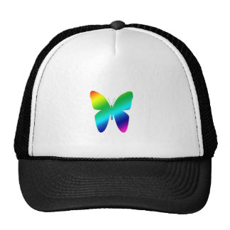 Colored Butterfly Mesh Hat