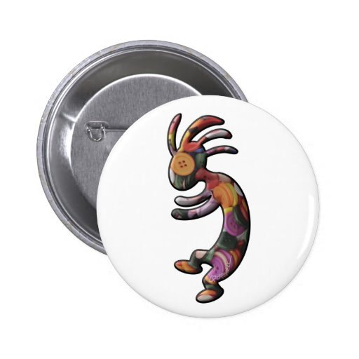 Colored Buttons Kokopelli