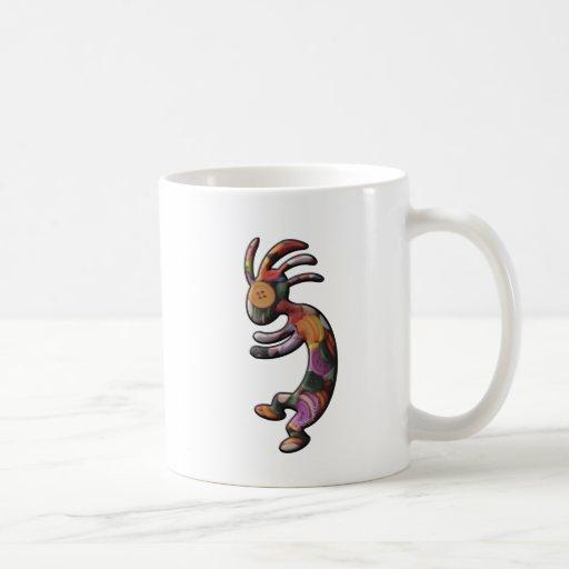 Colored Buttons Kokopelli Mug