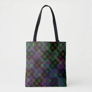 Colored Checkers Tote Bag