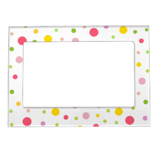 Colored Circles Photo Frame Magnet