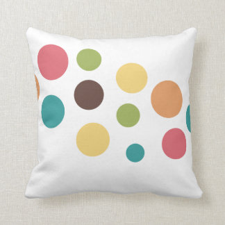 Colored Circles Throw Pillow